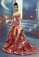 Eaki Pink Sequin Evening Dress Outfit Gown Silkstone Barbie Fashion Royalty FR2