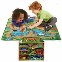 Melissa & Doug Prehistoric Playground Rug & Bonus Dinosaur Party Set