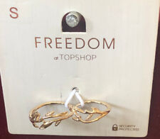 TOPSHOP Freedom New Small Double Finger Gold Ring Jewellery RRP £8.50
