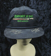 Vintage Export A Hydroplanes Racing Signed Patrick Haworth  Hat Cap Snapback