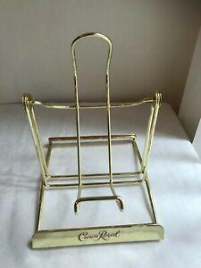 Crown Royal Logo Tilt and Pour Swinging Metal Bottle Holder Gold Tone SO COOL!