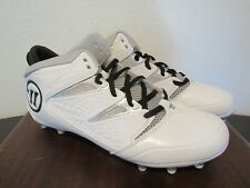 WARRIOR NERO WT WHITE & GRAY ADULT MEN'S LACROSSE CLEAT SHOES SIZE 9.5 NWB