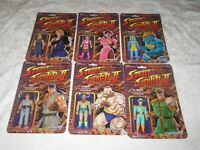 "Super7 ReAction Street Fighter II 3.75"" Championship Edition Set of 6 Blanka Ken"