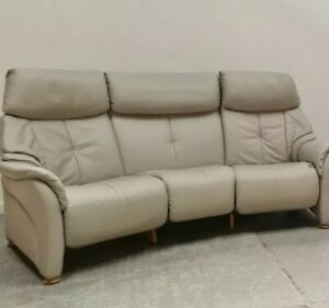 Himolla Leather Curve 3 seat curved recliner sofa 030821