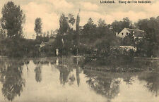 Linkebeek,Belgium,Etang de l'ile Robinson,Flanders,Used,1913