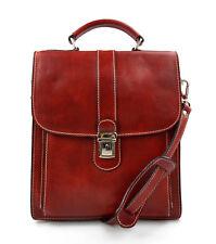 9f2fd1f98a Borsa uomo donna borsello postino spalla tracolla vera pelle rosso hobo bag