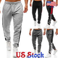 Men's Loose Casual Sports Pants Tracksuit Fitness Jogging Stretch Sweat Trousers