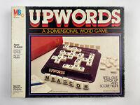 Vintage Milton Bradley UPWORDS 3 Dimension Word Game 1983 COMPLETE - VG