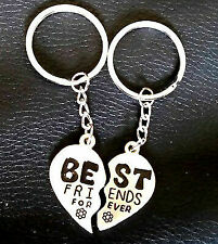 TRIXES Best Friends Forever Heart Keyring - 2 Halves