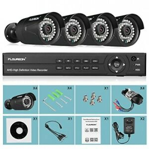 FLOUREON Überwachungssystem CCTV DVR AHD 3000tvl