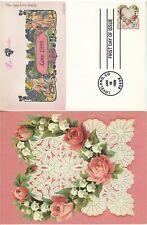 US FDC #UX300 PCS Love heart flowers Loveland Postcard Pugh Handpainted Cachet
