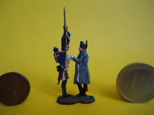 = Napoleon and Imperial Grenadier (Flat type Metal HAND PAINTED Model) =