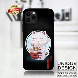 Funny Cat Kawaii Anime Japan Phone Case Samsung Galaxy S20 S9 Huawei iPhone Case