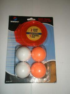 Sportcraft Power Puck orange neon air turbo hockey 2 round 1 octagon 4 Foosballs