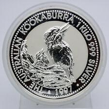 AUSTRALIE $30 Argent 1 kg Kookaburra 1997