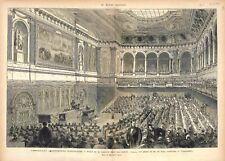 Châteaux de Versailles Assemblée Nationale Salles des Séances GRAVURE PRINT 1875