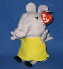 TY EMILY ELEPHANT BEANIE BABY (PEPPA PIG) - MINT TAGS - UK EXCLUSIVE