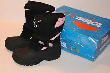 TOTES Girl Size 2 Pink & Black Waterproof Winter Boots NEW