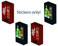 Lego soda vending machine decals 10224 10185 10182 10218 Mountain Dew Dr Pepper