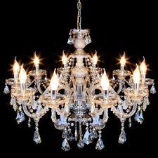 Design Kronleuchter 10-armig Deckenlampe Lüster Hängelampe Hängeleuchte Glas