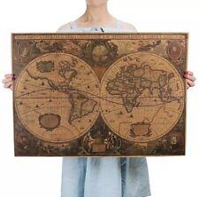 Historische Weltkarte Poster Vintage Erde Latein Wandbild Ozean Deko Antik Rom