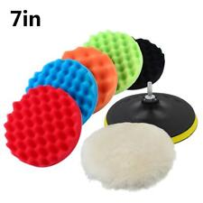 7inch 30mm Polishing Waxing Buffing Sponge Pads Kit Compound Car Polisher Pad