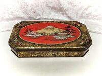 Vintage/Antique Tin-Macfarlane & Lang Biscuits-Red/Gold Asian/Chinese/Japanese