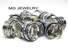 500 PCs Lot Mix Design Spinning Spinner Ring Meditation Rings 925 Silver Plated