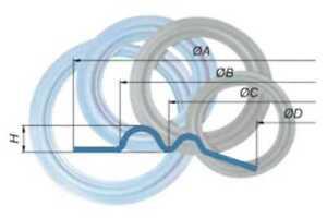 Lautsprecher Sicke Reparatur Schaumstoffsicke 20cm / P2