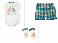 GYMBOREE New Infant Boys Outfit With Socks Rainforest Crawl  SIZE 6-12 MONTHS