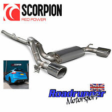 "Scorpion FOCUS RS MK3 Système D'échappement Cat Back 3"" inoxydable non res Polish Tips"