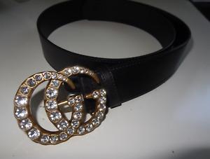 Women's GG Buckle Gucci Leather Belt Size 34 / 85 cm