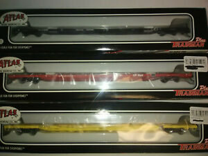 ATLAS 85' ISO CONTAINER FLAT CARS HO SCALE YOUR CHOICE @ $29.00 NOS. CP, CN FEC