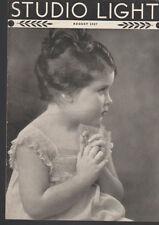 Studio Light Magazine Photography Eastman Kodak August 1937 Cute Child