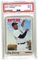 2019 Topps Heritage High Number #516 Eloy Jimenez rookie card PSA 9 White Sox