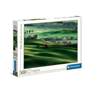 puzzle Clementoni 500 pezzi TUSCANY HILLS HQC High Quality 49x36 35098 + OMAGGIO