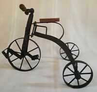 Vintage Metal Small Tricycle Decor or Doll Toy