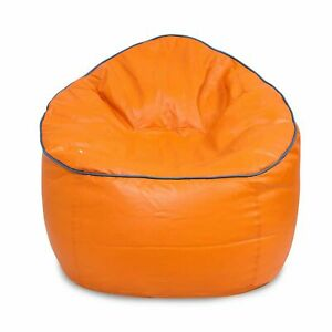 Bean Bag Sofa Mudda Cover XXXL 35 * 35 * 15 Inch Orange Color (Without Beans)