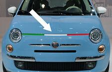 1 X BANDE TRICOLORE ITALIA CAPOT FIAT 500 ABARTH 92cm STICKER BD519-1