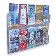 "2 Ten Pockets counter literature stand display rack 4.125"" W X 1.25 D X 4"" H"