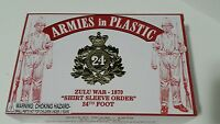 "Armies in Plastic Set # 5573 Zulu War 1879 ""Shirt Sleeve Order"" 24th Foot NEW"
