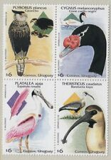 URUGUAY: 1998 Birds set in block SG2434-7 MNH