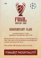 2008, MANCHESTER UNITED V CHELSEA ! CHAMPIONS LEAGUE FINAL ! RARE VOUCHER !