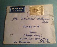 India cover 1948 Gandhi stamps to Kenya
