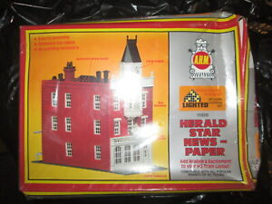 HO Scale AHM 15806 Herald Star News Paper Building kit.