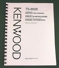 Kenwood TS-850S Instruction Manual, Premium Card Stock Covers & 32 LB Paper!