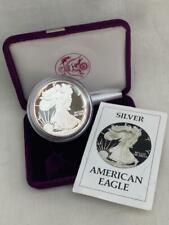 1oz .999 Fine Silver $1 American Eagle Coin Sealed in Capsule With Box & C.O.A.