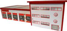 Feuerwehrhaus Feuerwache HO 1:87 Kartonmodellbausatz