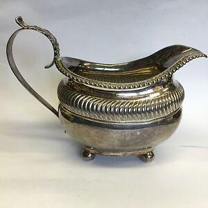 Antique Georgian Solid Silver Creamer / Milk Jug William Eaton 1823 164g 15.5cm