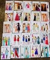 U PICK! PROM BRIDAL EVENING GOWN MAXI DRESS McCalls Sew Pattern Sz 3-24 PLUS UC